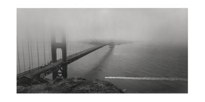 Golden Gate Bridge Fog Panorama by Henri Silberman