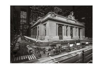 Grand Central Station, NY at Night 2 - New York City Landmark Midtown Manhattan by Henri Silberman