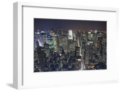 Manhattan North View, Night - New York City Top View