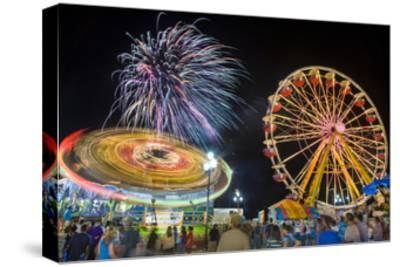 Nc State Fair Rides and Fireworks at Night
