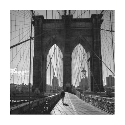 On the Brooklyn Bridge 2 by Henri Silberman