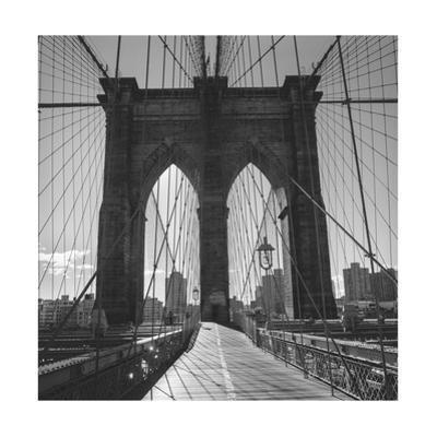 On the Brooklyn Bridge Shadows  2 by Henri Silberman