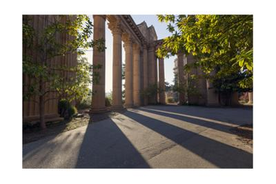 Palace of Fine Arts Columns Shadows San Francisco 1 by Henri Silberman