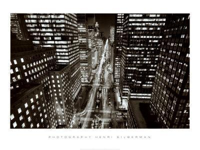 Park Avenue at Night, New York City
