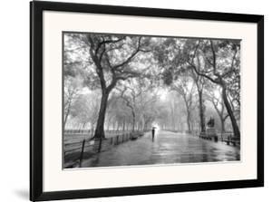Poet S Walk Central Park New York City Henri Silberman Framed Art Print