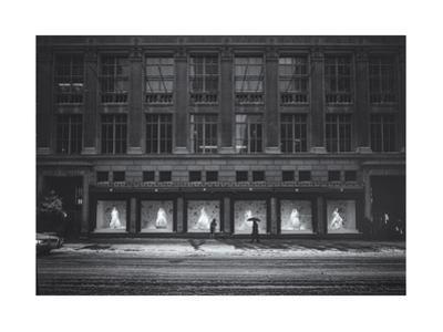 Saks Fifth Avenue In Snow by Henri Silberman