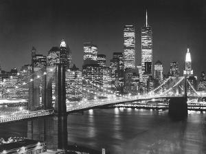 Top View, Brooklyn Bridge by Henri Silberman