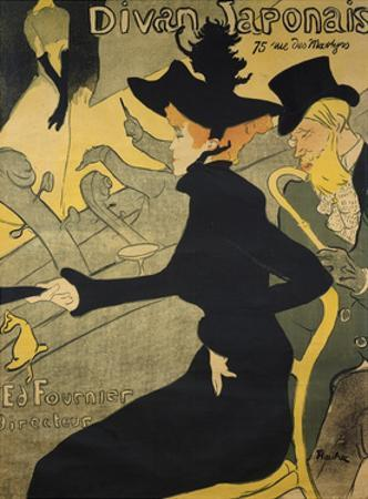 Jane Avril, French Singer and Dancer. Lithography by Henry Toulouse-Lautrec, 1893.