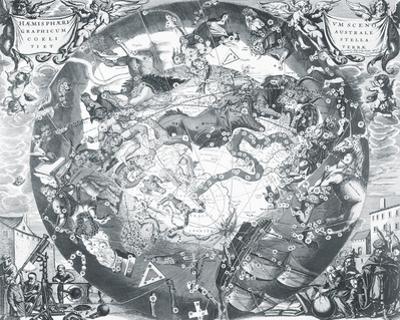 Haemisphaeri Graphicum Coelitietum Sceno Australae Stella Terrae, 1660