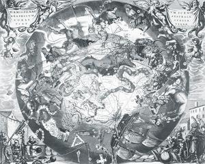Haemisphaeri Graphicum Coelitietum Sceno Australae Stella Terrae, 1660 by Henricus Hondius