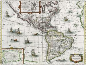 Map of the Americas, 1631 by Henricus Hondius