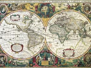 Nova Totius Terrarum Orbis Geographica Ac Hydrographica Tabula by Henricus Hondius