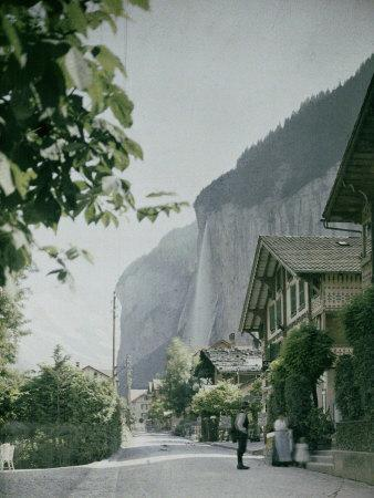 Lauterbrunnen, a Town in the Waterfall Valley in Switzerland