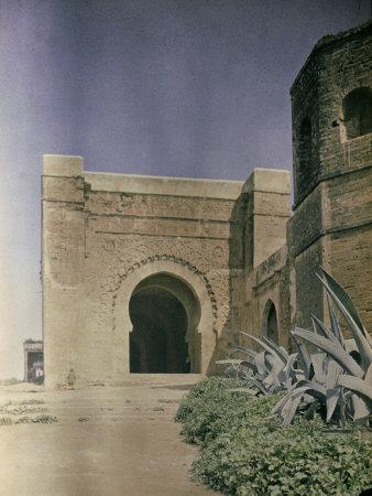 The Gate at the Walls of the Kasbah of Oudaia in Rabat, Marocco