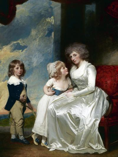 Henrietta, Countess of Warwick, and Her Children-George Romney-Giclee Print