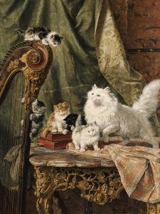 A Musical Interlude, 1897 by Henriette Ronner-Knip