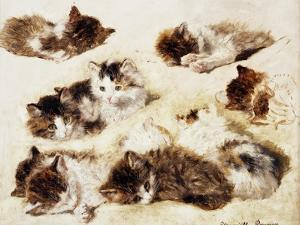 A Study of Kittens, 1898 by Henriette Ronner-Knip