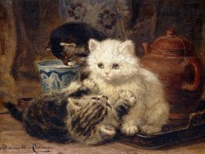 Afternoon Tea by Henriette Ronner-Knip