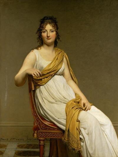 Henriette Verniac, Nee Henriette Delacroix, Sister of Eugene Delacroix-Jacques-Louis David-Giclee Print