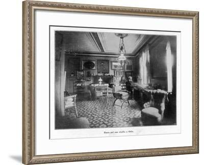 Henrik Ibsen Norwegian Dramatist in His Study at His Home in Oslo--Framed Photographic Print