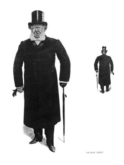 Henrik Ibsen Norwegian Dramatist Taking His Daily Walk--Giclee Print
