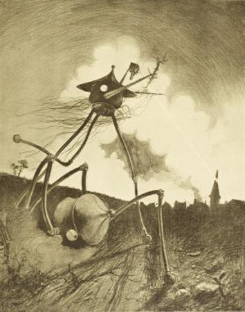 The War of the Worlds, a Martian Fighting-Machine in Action by Henrique Alvim Corrêa