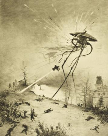 The War of the Worlds, a Martian Fighting-Machine is Destroyed by a Hit from a Shell by Henrique Alvim Corrêa