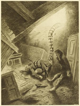 The War of the Worlds, a Martian Handling-Machine, Finds a Victim by Henrique Alvim Corrêa