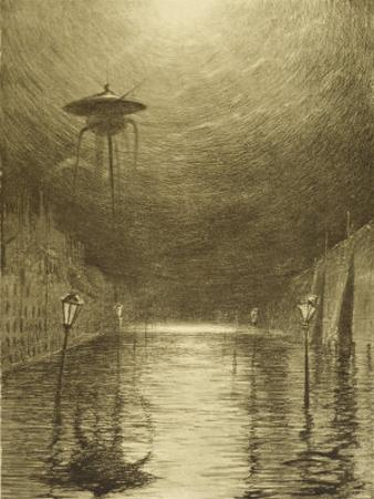 The War of the Worlds, a Martian Machine Over the Flooding Thames by Henrique Alvim Corrêa