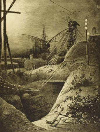 The War of the Worlds, Dead London Devastated by the Martian Attack by Henrique Alvim Corrêa