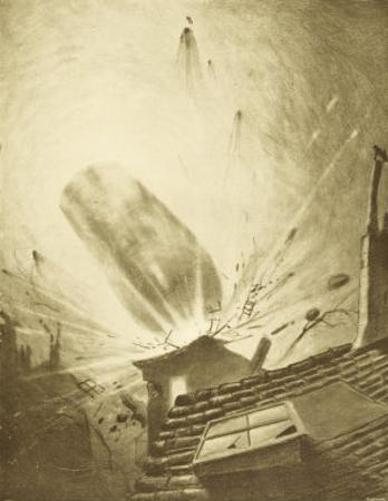 The War of the Worlds, The Fall of the Fifth Martian Cylinder by Henrique Alvim Corrêa
