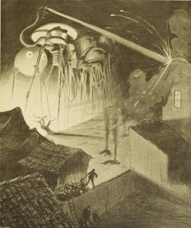 The War of the Worlds, The Heat-Ray in the Chobham Road by Henrique Alvim Corrêa
