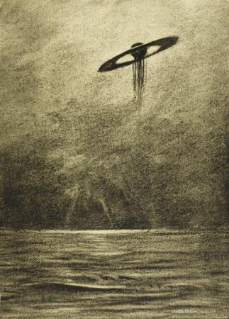 The War of the Worlds, The Martian Flying-Machine Over the English Channel by Henrique Alvim Corrêa