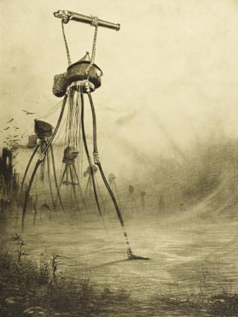The War of the Worlds, The Martians Fire Their Gas- Guns by Henrique Alvim Corrêa