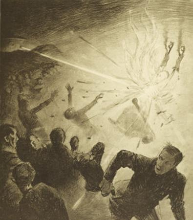 The War of the Worlds, The Martians, Heat-Ray Disperses the Crowd by Henrique Alvim Corrêa