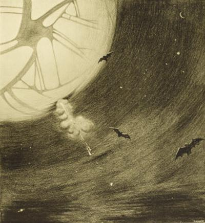The War of the Worlds, The Martians Start Their Journey to Attack Earth by Henrique Alvim Corrêa