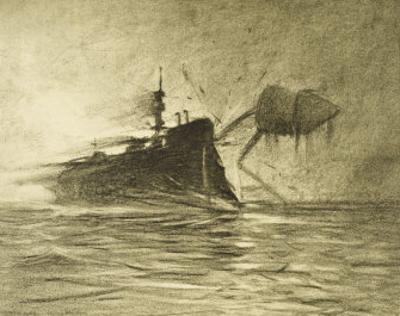 The War of the Worlds, The Torpedo-Boat's Brave Attack on the Martians by Henrique Alvim Corrêa