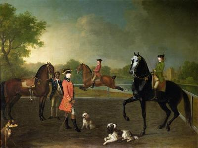 Henry, 10th Earl of Pembroke, and His Son George Augustus, Lord Herbert (1759-1827)-David Morier-Giclee Print