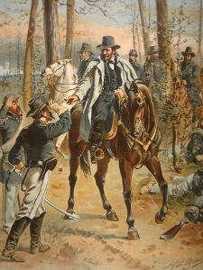General Grant in the Wilderness Campaign, 5th May 1864 (Colour Litho) by Henry Alexander Ogden