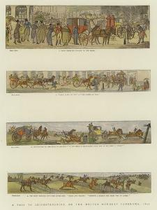 A Trip to Leicestershire, or the Melton Mowbray Panorama, 1820 by Henry Alken