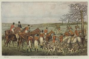 Hunting in Leicestershire, 1827, in at the Death by Henry Alken