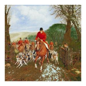 A Hunt Going Through A Gate by Henry Alken Jr.