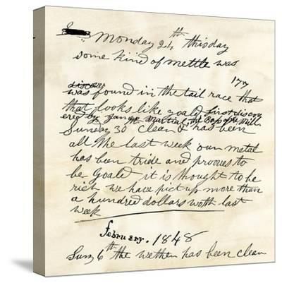 Henry Bigler's Diary Entry Marking James Marshall's Gold Discovery at Sutter's Mill, c.1848