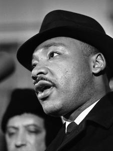 Dr. Martin Luther King, Jr. Talks to Newsmen by Henry Burroughs
