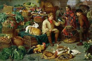 Market Scene by Henry Charles Bryant
