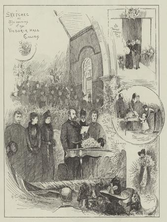 Sketches at the Opening of the Victoria Hall, Ealing