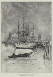 The Hamburg Dock Strike, an Idle Port by Henry Charles Seppings Wright