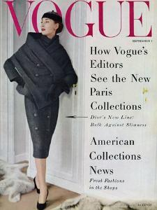 Vogue Cover - September 1955 by Henry Clarke