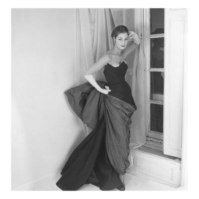 Vogue - March 1952 - Schiaparelli Dress with Venus de Milo Drapery
