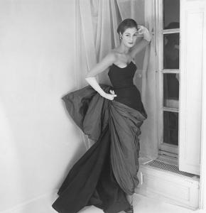 Vogue - March 1952 - Schiaparelli Dress with Venus de Milo Drapery by Henry Clarke